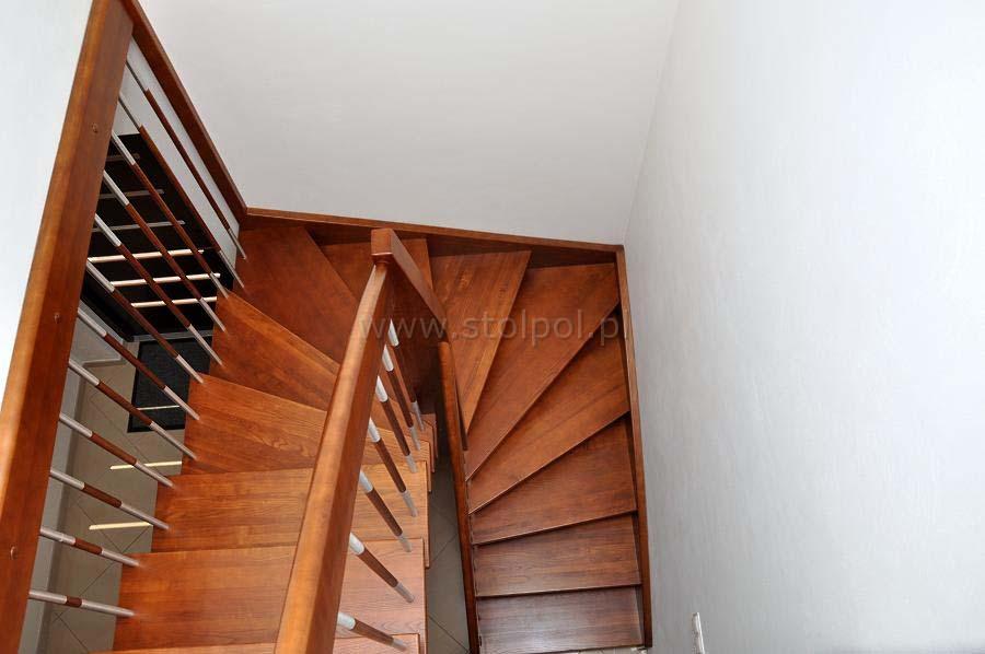 schody policzkowe jesion