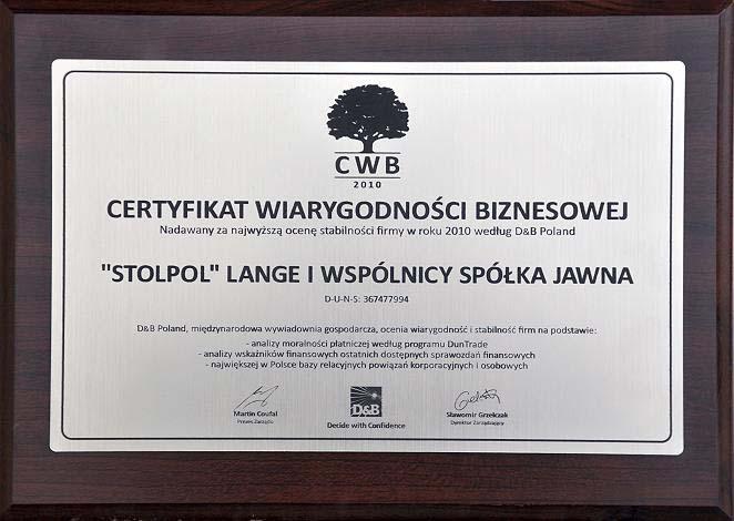 certyfikat CWB